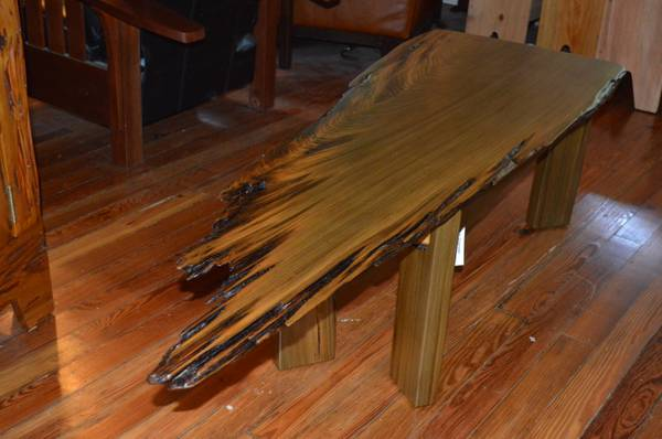 Sinker Cypress Slab Coffee Table - $725 (Covington, La.)