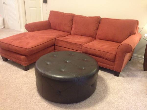 Sectional Couch 96Lx38Wx35H plus ottoman - $300 (Mandeville)