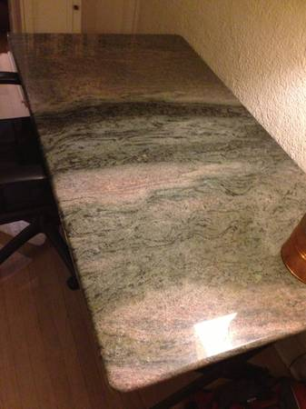 Reduced - Granite Desk Table with Steel Frame - $500 (Uptown)
