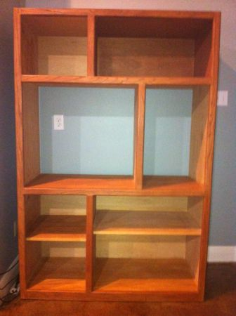Solid Oak Shelving Unit - $150 (Covington)