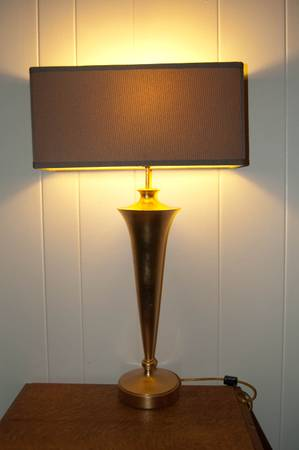 GOLD LEAF LAMP W SHADE - $200 (New Orleans)
