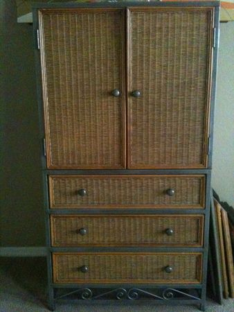 Pier One Wicker 3 Drawer Dresser andor Armoire - $300 (Warehouse District New Orleans)