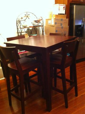 World Market High-Top Table 4 Chairs - $350 (uptown)