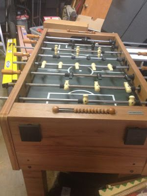 Really cool butcher block FOOS BALL TABLE - great shape - $300 (Metairie)