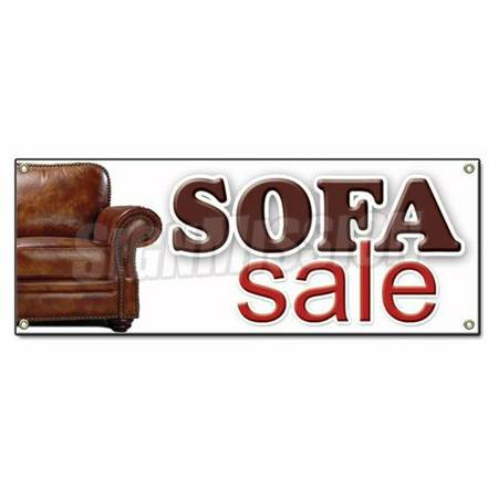NEW LEATHER SOFA ONLY - $375 (Necessity Furniture Warehouse Metairie)