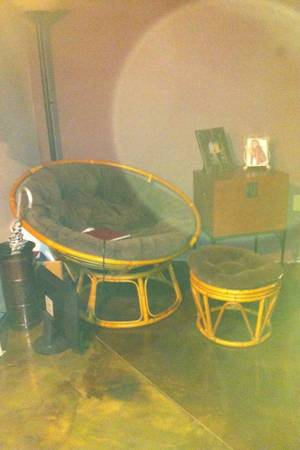 Pier 1 Papasan chair and ottoman - $75 (Gretna)