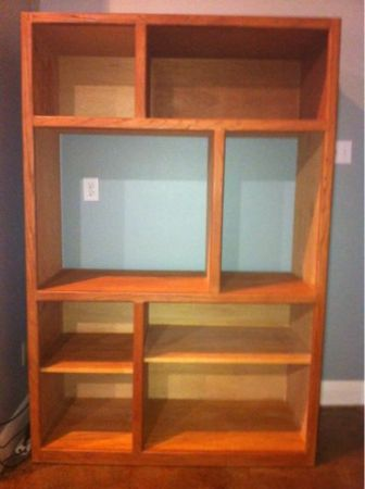 Shelving Unit - solid oak - $175 (Covington)