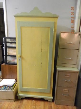 Small painted cedar wardrobe armoire or storage - $65 (Destrehan, LA)
