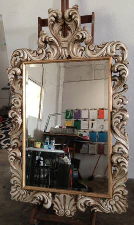 CARVED WOOD MIRROR - $300 (DOWNTOWN HOUSTON)