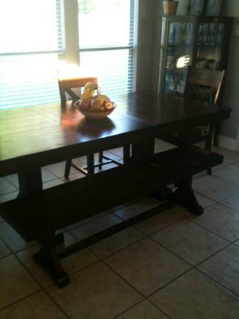 World Market table bench chairs - $550 (Northshore)