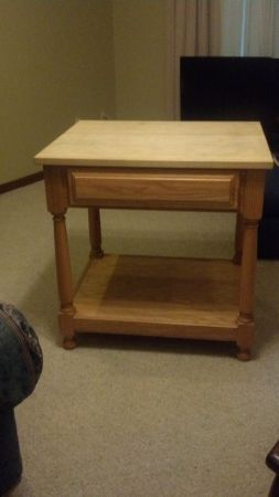 Kitchen butcher block table - $800 (Destrehan)