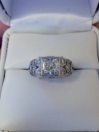 One of a Kind Beautiful Antique Cushion Diamond Engagement Ring 14k  -   x0024 3900  New Orleans