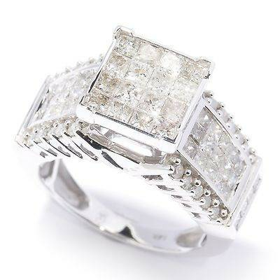 14K WHITE GOLDd 2 07CTW DIAMONDRING RING -   x0024 1700  NEW ORLEANS AREA