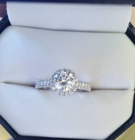 HALO DIAMOND ENGAGEMENT RING - 1 02ct Center Stone -   x0024 4400  New Orleans