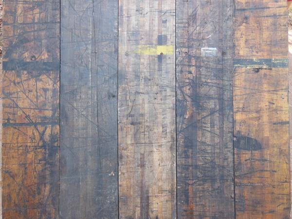 Reclaimed Boxcar Floor Planks - x002410 (Oklahoma City)