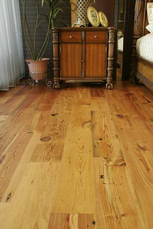 5 Prefinished Engineered Antique Heart Pine Flooring for $4.50