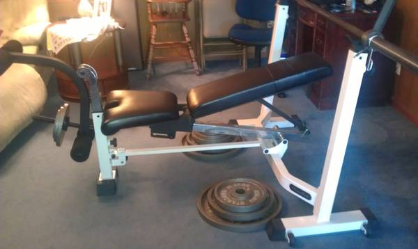 WEIGHT BENCH NAUTILUS wWEIGHTS - $200 (WAGGAMAN, LA)