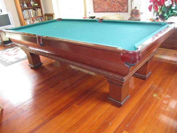 ANTIQUE POOL TABLE BRUNSWICK Newport 4 12 x 9 - $12000 (Uptown)