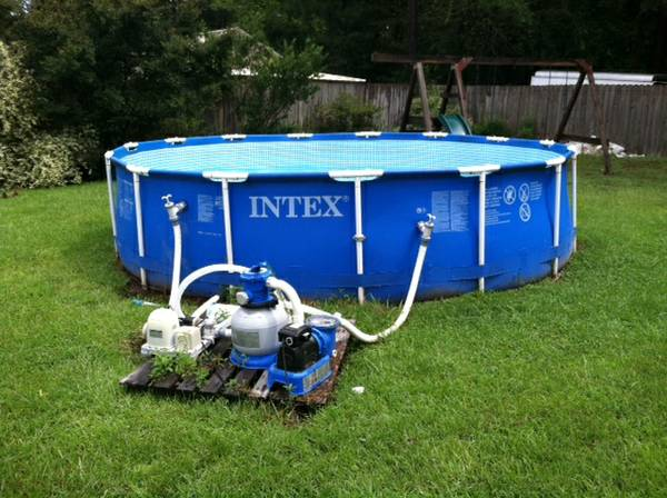 Above ground pool saltwater system espotted for Can babies swim in saltwater pools
