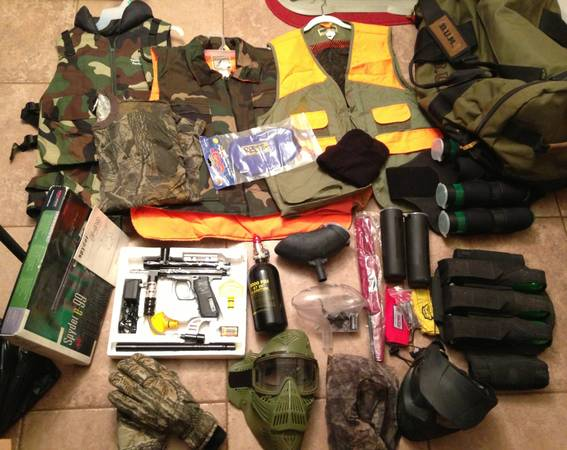 Paintball Marker, Tank, Mask, and Gear - $100 (Slidell)
