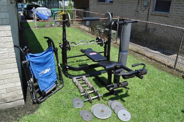 body by jake weight bench plus extras - $400 (gretna)