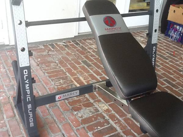 Marcy Olympic Weight Set and Bench - $425 (River Ridge)