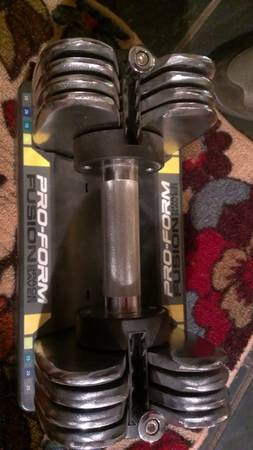 Pro-Form Fusion (space saver) dumbell - $50 (Covington, La)