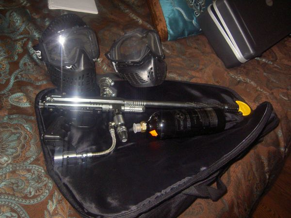 Paintball Spyder Gun bundle - $85 (Mandeville)