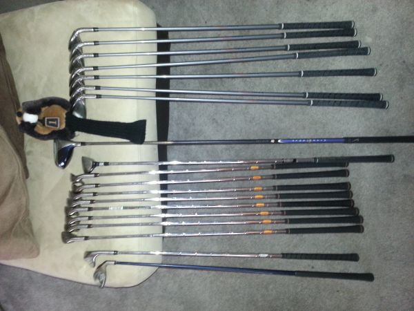 2 complete Maxfli Iron sets lt 15 rounds on each - $150 (Metairie)