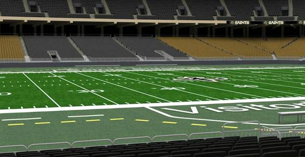 Saints season ticket and Playoff rights Sideline seats - $5000 (9th Row)