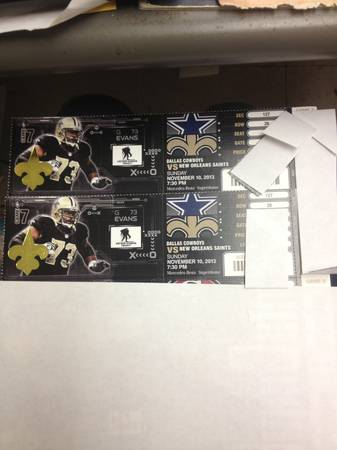 2 Saints vs Dallas Cowboys tickets n hand ready to sell now plaza each - $300 (New Orleans)