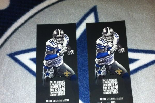 2 Tickets Saints vs. Dallas Cowboys - $15000 (Cowboys Stadium)