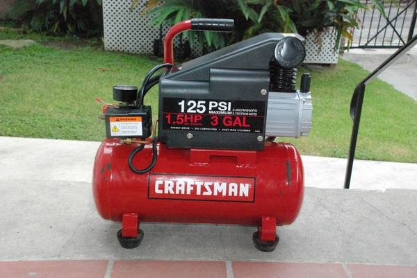 Craftsman 3 Gallon Horizontal Air Compressor - $65 (New Orleans)