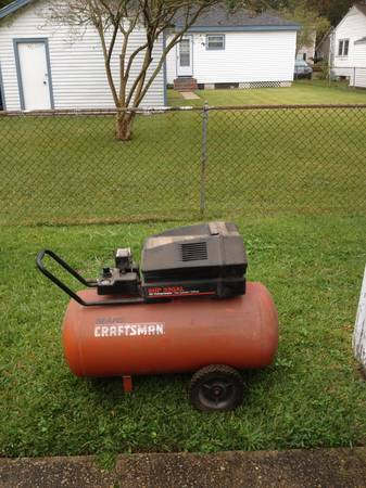 6 hp. craftsman air compressor - $200 (Harahan)