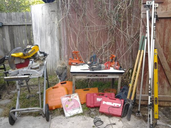 Sale today til 7Pro jigsaw, sliding mitre, paslodes, etc. New Prices (Mid City)