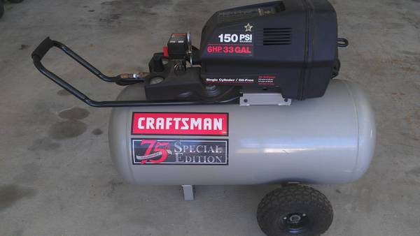 CRAFTSMAN 75TH SPECIAL EDITION AIR COMPRESSOR - $250 - $250 (Metairie)