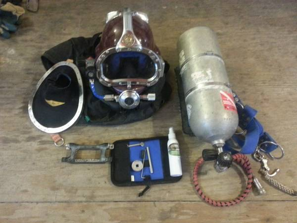 kirby morgan superlite 37 dive helmet plus gear - $5400 (new orleans)