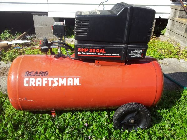 craftsman 5HP 25 gal. air compressor - $150 (JeffersonMetairie )