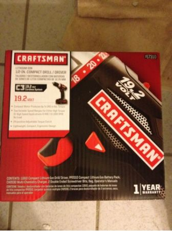 Craftsman C3 lithium ion 19.2 volt drill charger battery bag NEW in box - $80 (Metairie)