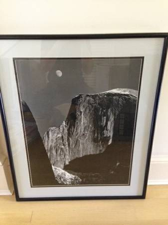 Ansel Adams Framed Print Moon Half Dome - $90