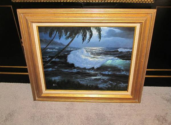 ESTATE Oil Painting Tropical Island - $55 (Old Metairie, LA)