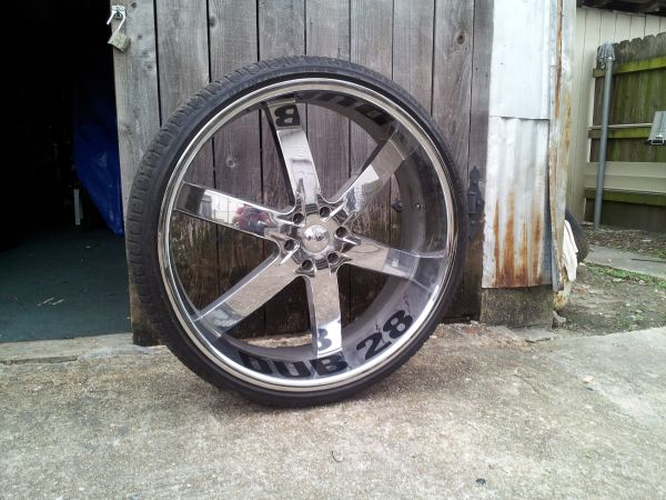 28 in rims with tires for sale - $2700 (harvey la)