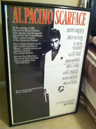 Scarface The Godfather Large Movie Posters Framed - $10 (Westbank)