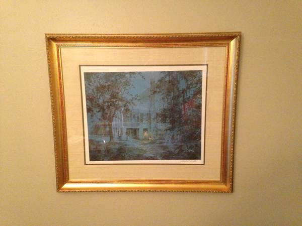 Ghostly Manor Signed Numbered Print by Robert M. Rucker - $400 (Mandeville or Metairie)
