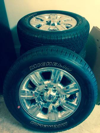 New Michelin Tires (18) with stock F150 Rims Set of 4 - $1000 (West Bank, Marrero)