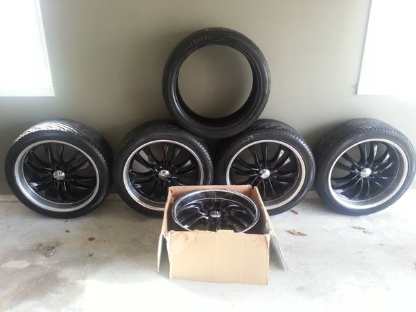22 in eagle alloy rims and tires - $995 (hammond, la)