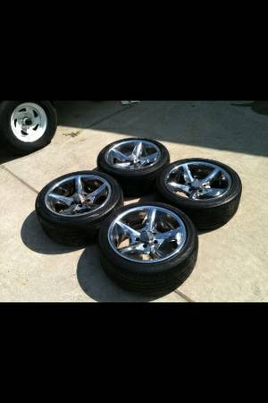 17 inch kmc wheels and tires - $300 (Slidell)
