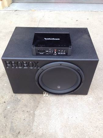 12 JL W3v3, Probox Ported Box, Rockford 300.1 Amp - Combo - $325 (Metairie)