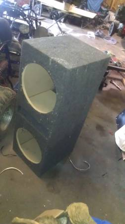 Dual 12 ported subwoofer box - $50 (Slidell)