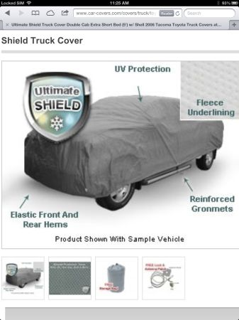 Car Cover for Toyota Tocoma - $250 (Kenner, La.)